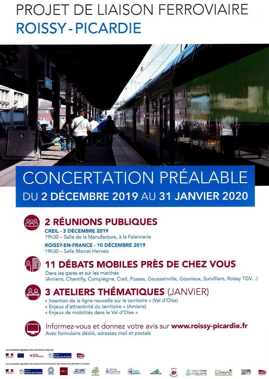 Projet de liaison ferroviaire Roissy Picardie 011219