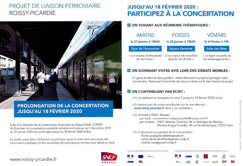 Projet de liaison ferroviaire Roissy Picardie 180220