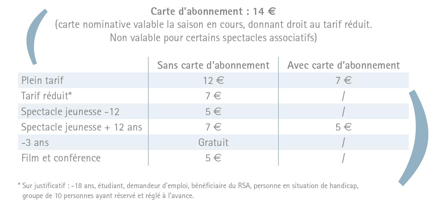 tuilerie tarifs